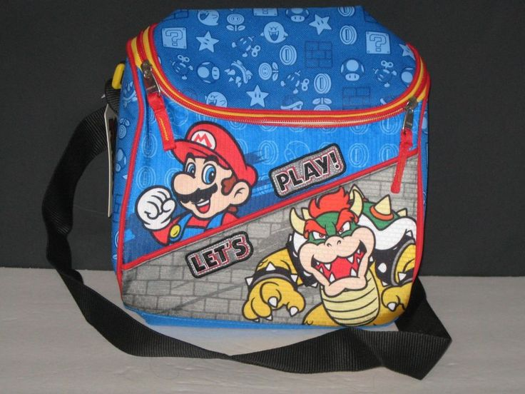 Super Mario Bros Brothers Ninendo Insulated Lunch Bag for Kids or Adults NEW NWT #NintendoChenson