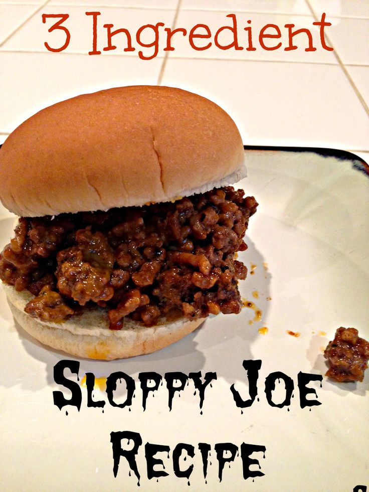 Easy Sloppy Joe Recipe! Just 3 ingredients you already have at home, healthy & inexpensive to make!