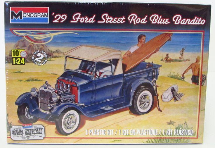 1929 Ford Street Rod Blue Bandito Monogram 85-4020 - 1/24 - Shore Line Hobby