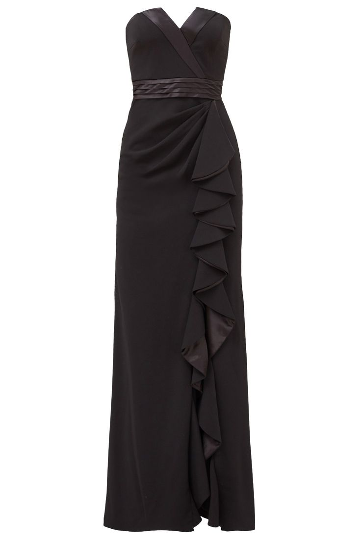 Rent Tuxedo Ruffle Gown by Badgley Mischka for $80 only at Rent the Runway.