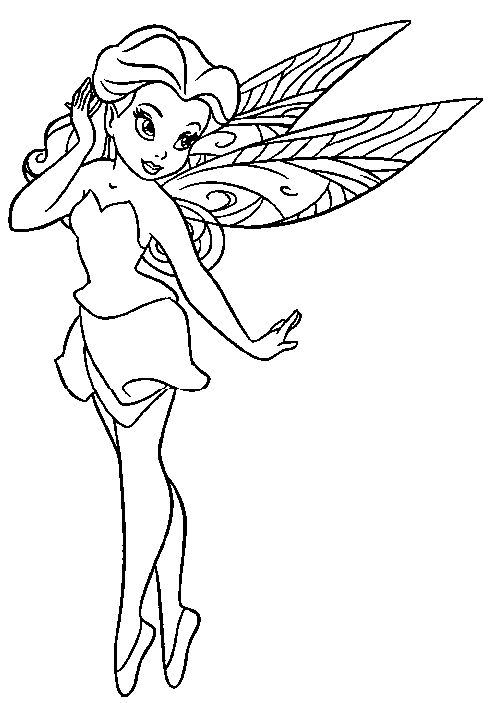 printable fairies drawlings free printable pictures coloring pages for kids - Colour In For Kids