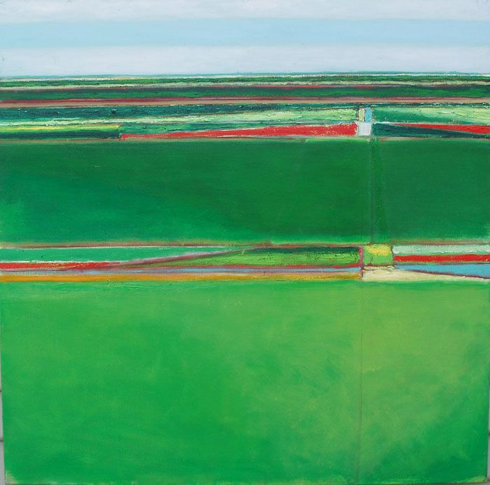 Bett Gallery Hobart - Patrick Grieve - Two green fields