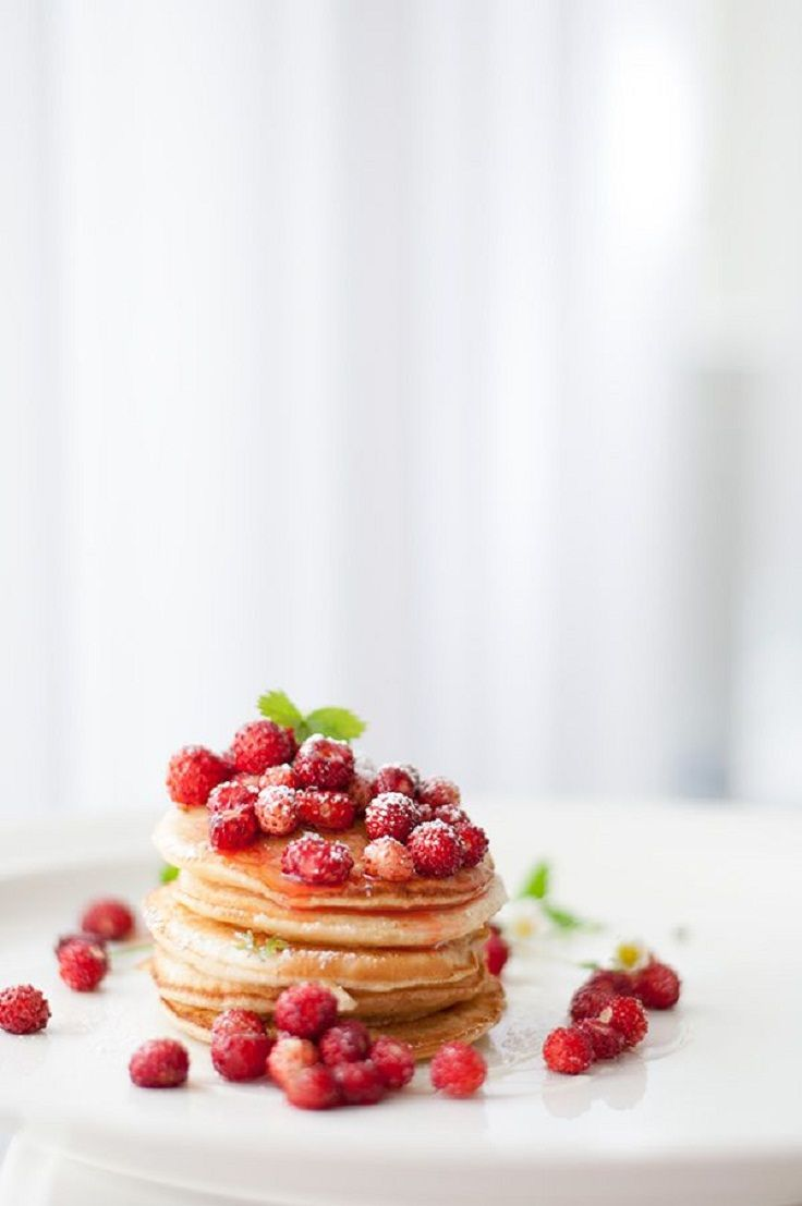 American #Pancakes with Wild #Strawberries 15 All-American Pancake Recipes | All Yummy #Recipes