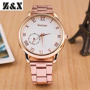 kvindernes Enøje diamant kvarts analog stål bælte ur (assorterede farver) – DKK kr. 49