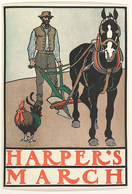 Edward Penfield (American, 1866–1925). HARPER'S / MARCH, 1899. The Metropolitan Museum of Art, New York. Leonard A. Lauder Collection of American Posters, Gift of Leonard A. Lauder, 1984 (1984.1202.115) #horses