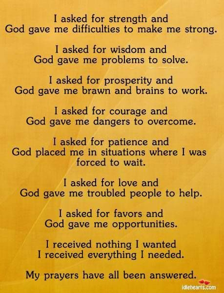 God is giving you everything you need and more!