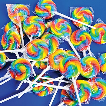 Mini Swirl Lollipops, Swirled Lollipops