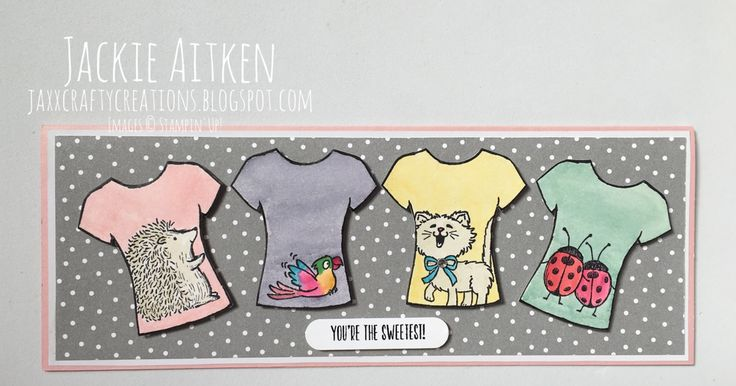 Look at these cute T Shirts!! They have beenmade using the Custom Tee Bundle, which is available in the Stamin' Up! 2017 Occasions Catal...