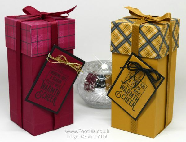 """Wrapped In Warmth, Warmth & Cheer DSP, Baker's Twine Trio Pack, 3/8"""" Ribbon Trio Pack - Pootles Advent Countdown 2016 #15 Tall Warmth & Cheer Box"""