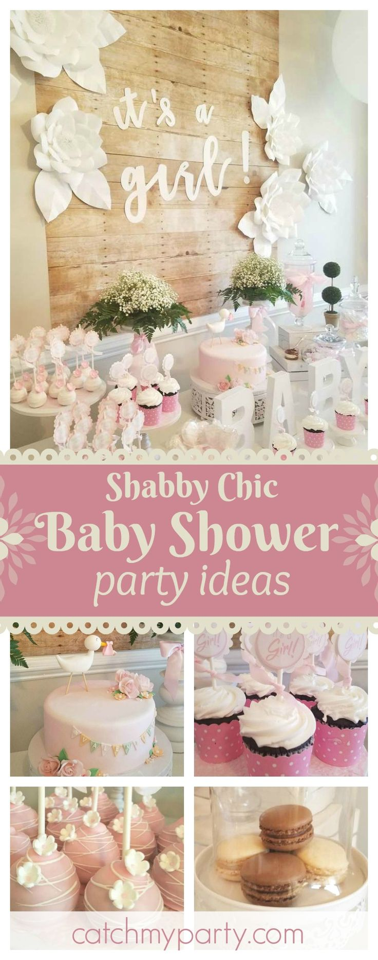 499 best Shabby Chic Party Ideas images on Pinterest 1st birthday