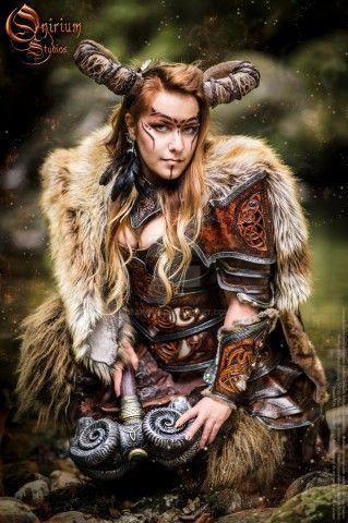 Original Celtic Battle Faun Costume Design