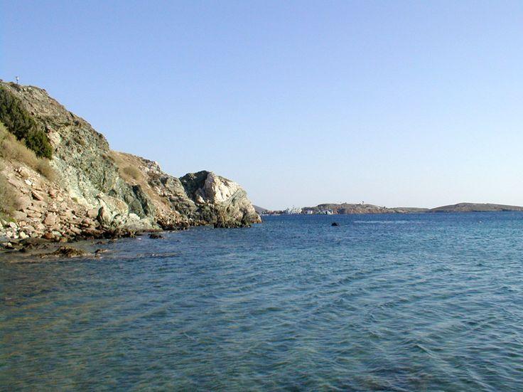 Syros, the blue sea close to Azolimnos beach (Personal photo)