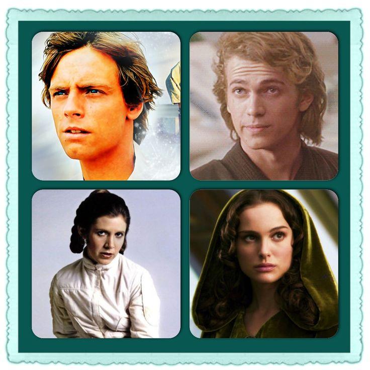 The Skywalker family - Luke & Anakin Skywalker, Leia Organa and Padmè Amidala