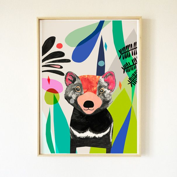 Tasmanian Devil Fine Art Print - inaluxe