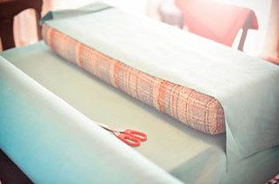 Re-upholster your camper cushions with the least amount of sewing possible. | 37 RV Hacks That Will Make You A Happy Camper