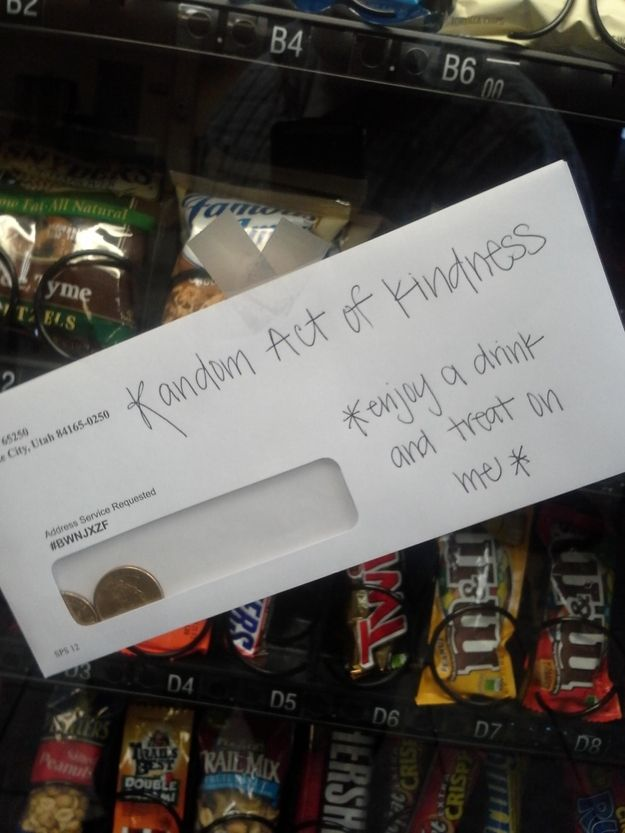 A sweet way to pay it forward at the vending machine