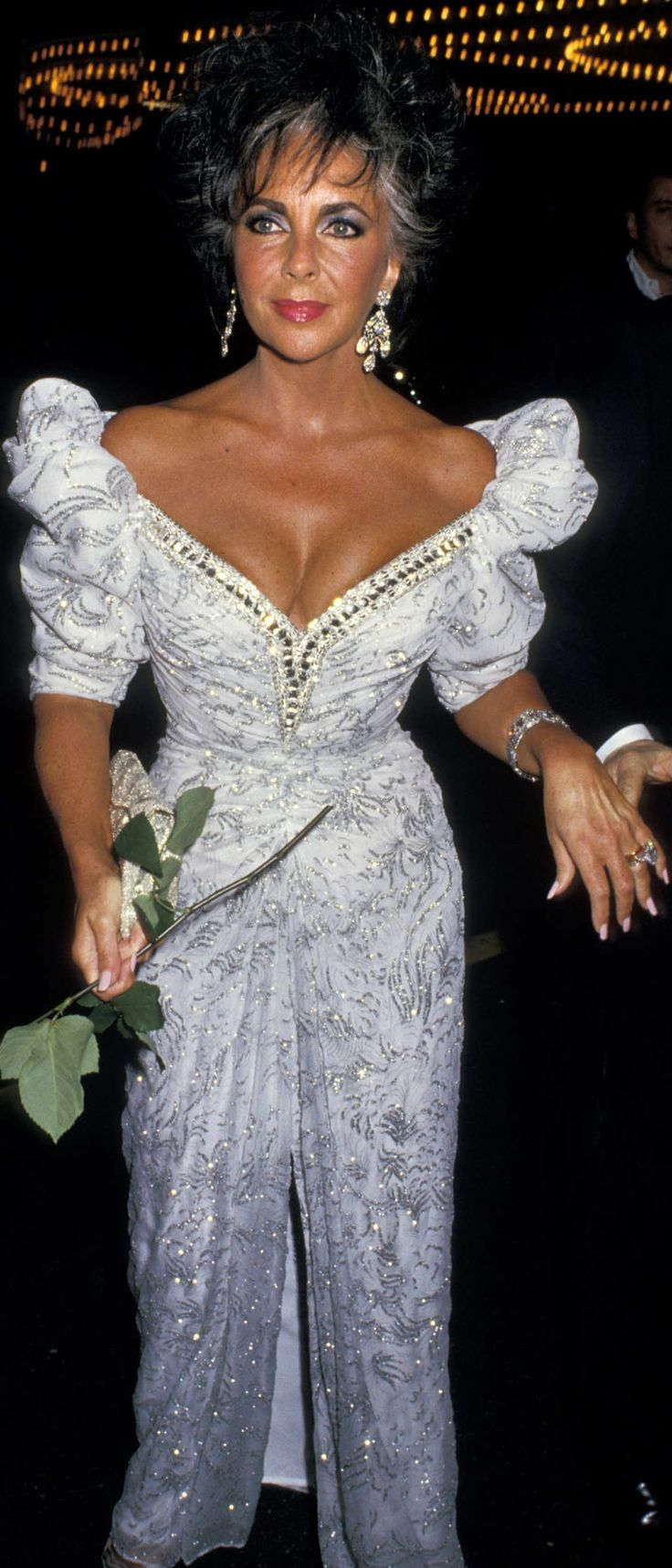 Elizabeth Taylor during 12th Annual Beauty Ball Benefiting March Of Dimes at The Waldorf in New York City. April 11, 1987.