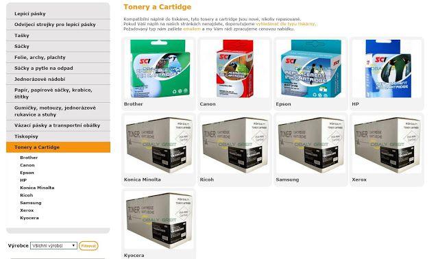 OBALY GREIT s.r.o. Tonery a Cartidge? Kompatibilní náplně do tiskáren, tyto tonery a cartridge jsou nové, nikoliv repasované. Pokud Váši náplň na našich stránkách nenajdete, doporučujeme vyhledávač dle typu tiskárny. Požadovaný typ nám zašlete emailem a my Vám rádi zpracujeme cenovou nabídku.  Brother Canon Epson HP Konica Minolta Ricoh Samsung Xerox Kyocera http://www.greit.cz/produkty/tonery-a-cartidge #Tonery a #Cartidge