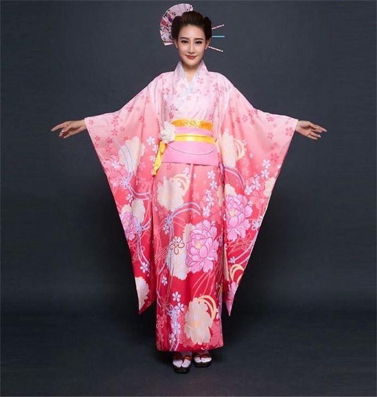 Pas cher Rose Japon Femmes Geisha Kimono Japones Yukata Japonais Kimono Traditionnel Vintage De Bal Robe Une Taille Kimonos Japoneses, Acheter  Vêtements asiatiques et des Îles du pacifique de qualité directement des fournisseurs de Chine:en gros et Au DétailSexy Vintagejaponaisfemmes deKimono Haori YukataRobe De soirée Fleur Taille\ \\ \\ \\ \\