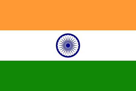 Free India flag graphics, vectors, and printable PDF files. Get the free downloads at http://flaglane.com/download/indian-flag/