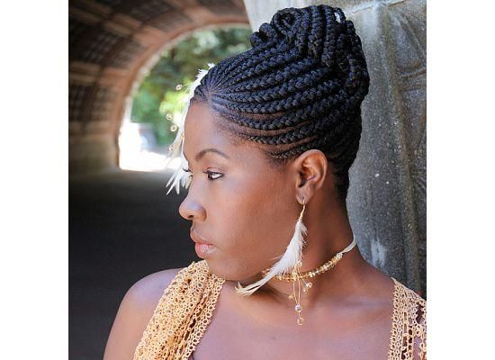 "I am always in awe of the incredible African American braided hair styles. I had a chance to try it once on one little girl and it is very different than braiding typical ""white people's"" hair. This particular style looks like its fit for a queen."