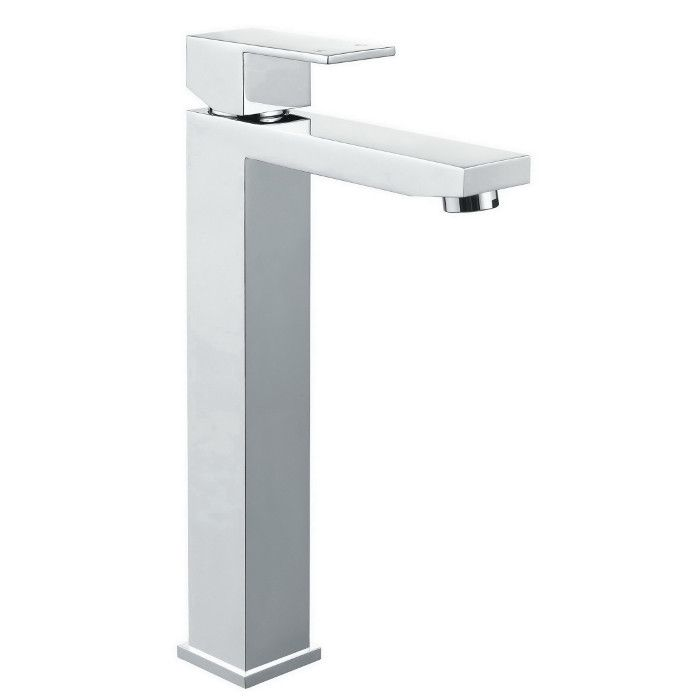 MB04-C meir chrome square tall basin mixer