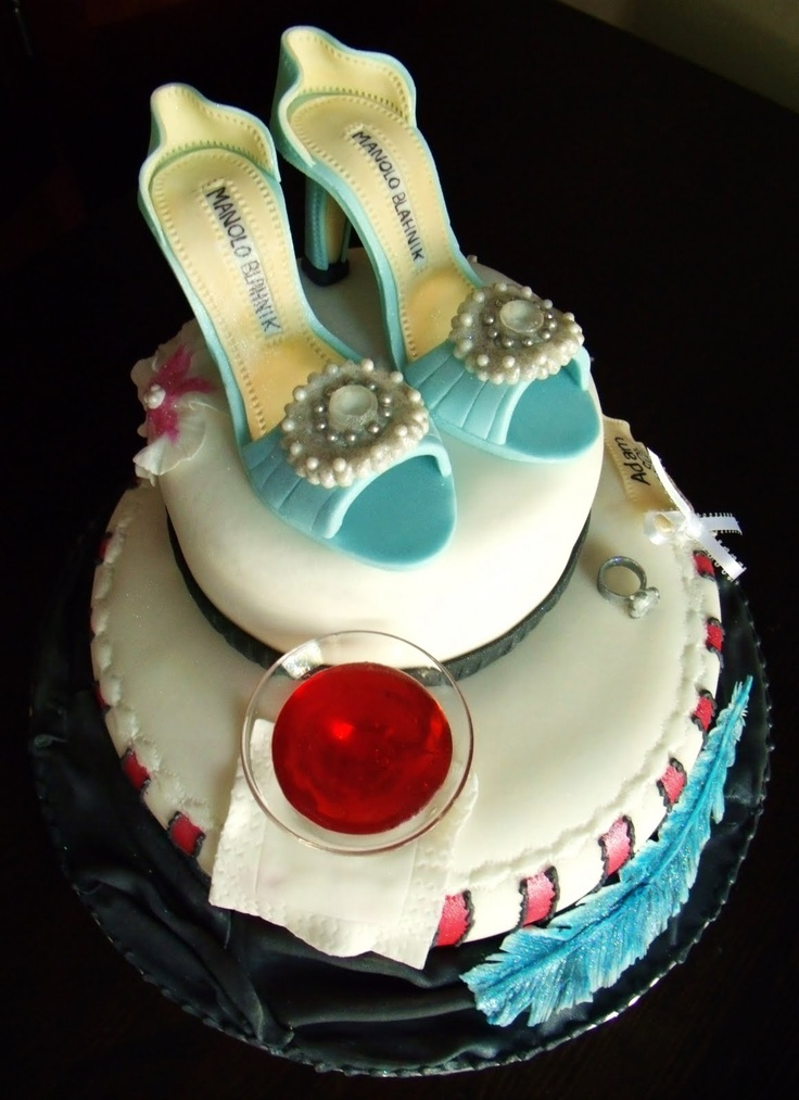 Manolo Blahnik Shoes on a cake {Completely edible}