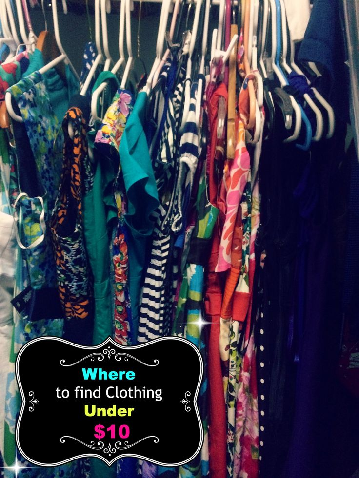Places to buy clothes under $10 http://madamedeals.com/places-buy-clothes-10/ #inspireothers #fashion