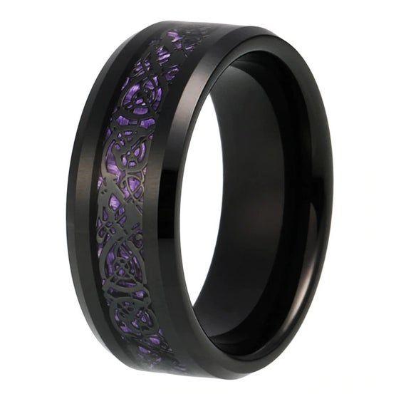 Details about  /Black Ceramic 8mm Polished Band S:12.5
