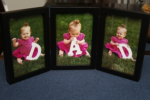 This would be cool for each kid to hold one of the letters--wonder if i could get this done by fathers day ??  DAD picture collage. we must do this