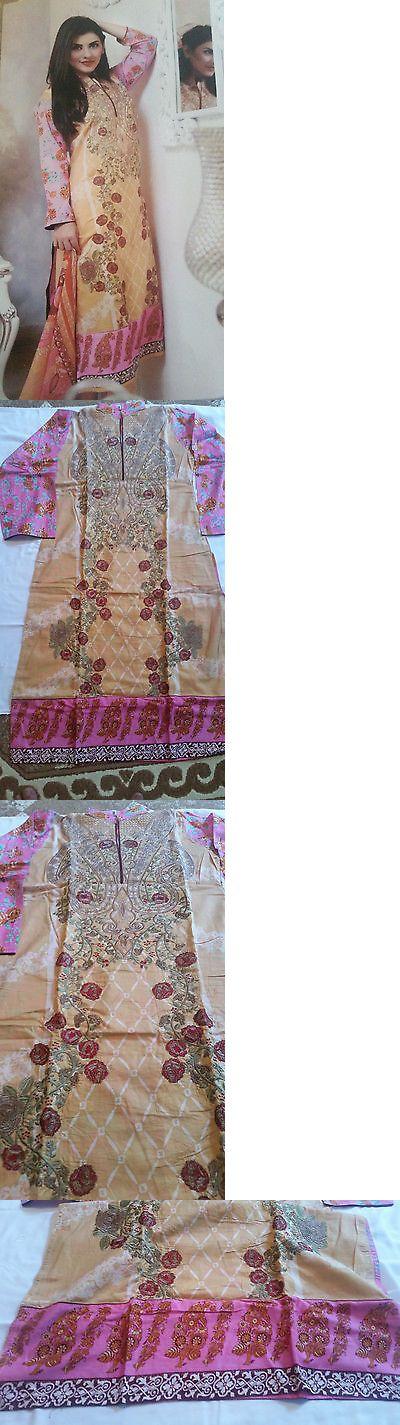 Salwar Kameez 155249: Indian Pakistani Embroidered Lawn Designer Stitched Shalwar Kameez Suit (New) -> BUY IT NOW ONLY: $48.99 on eBay!