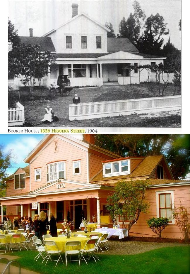 The GPhi SLO Pink Palace back in 1904 and now in 2012! #gammaphibeta