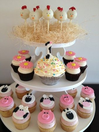 Cute idea for 1st birthday party !  The cake pops are  cute.
