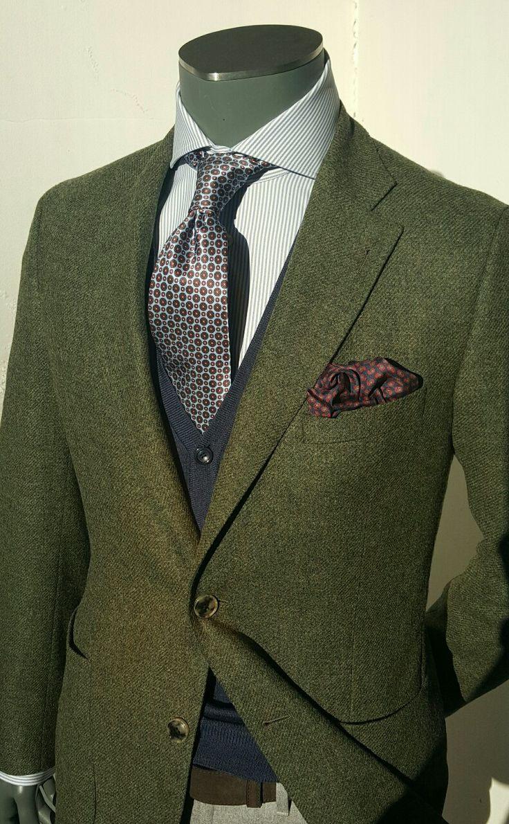 "stile-italiano: "" Tweed, Silk, Wool, Cotton in the mix """