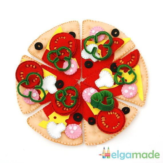 Mm! Pizza! Your little child will love creating their own pizza with this felt pizza set. Just imagine how it will be interesting for him to play with