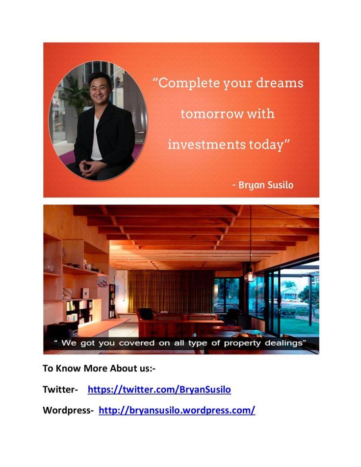 Bryan artawijaya susilo    provides real estate services by PatriciaMirawati07 via slideshare