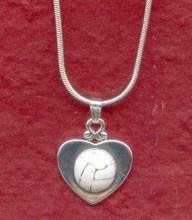 Heart with NETBALL Necklace