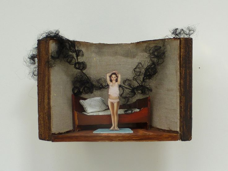 Armpit |  2015,  3Dcollage /diorama www.maritdik.nl