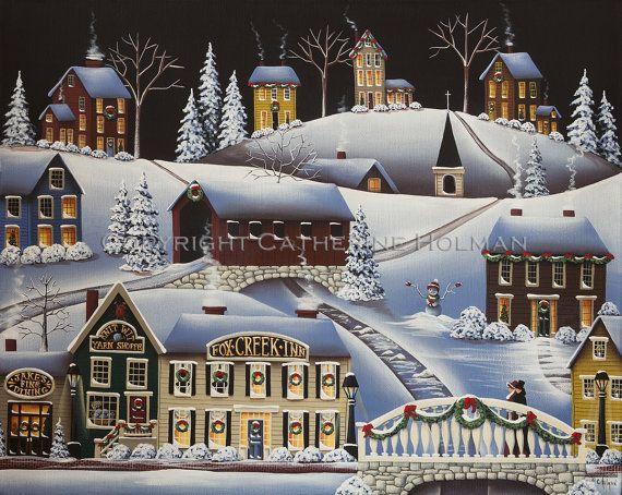 Λαϊκή Τέχνη Εκτύπωση Χριστούγεννα σε Fox Creek Village