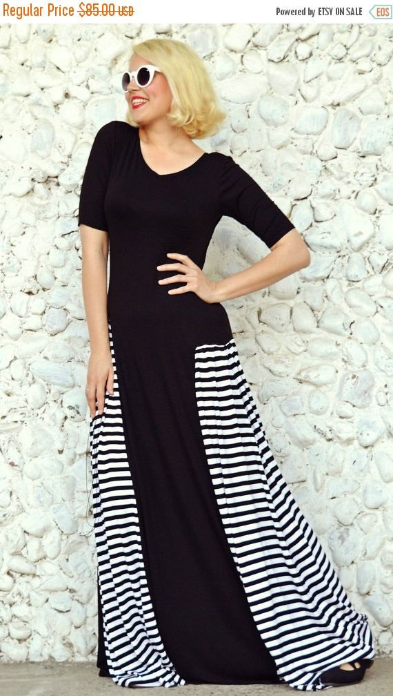 New in our shop! SALE 25% OFF Black Striped Maxi Dress TDK180, Loose Maxi Dress, Black Maxi Dress with Stripes, Summer Dress https://www.etsy.com/listing/276345738/sale-25-off-black-striped-maxi-dress?utm_campaign=crowdfire&utm_content=crowdfire&utm_medium=social&utm_source=pinterest