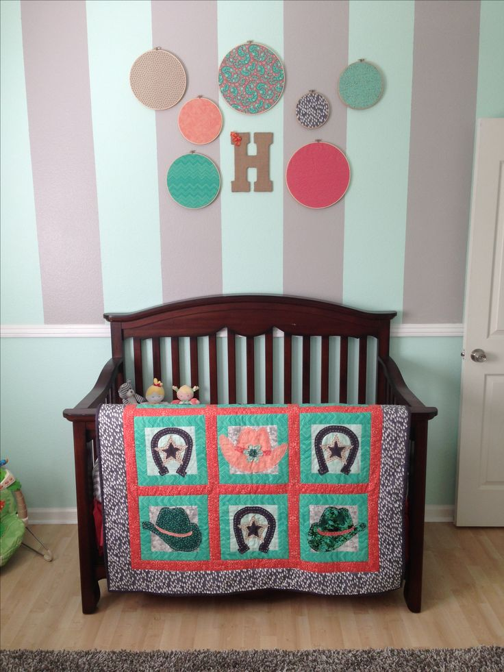 My Little Girl S Nursery Vintage Country Cowgirl Coral