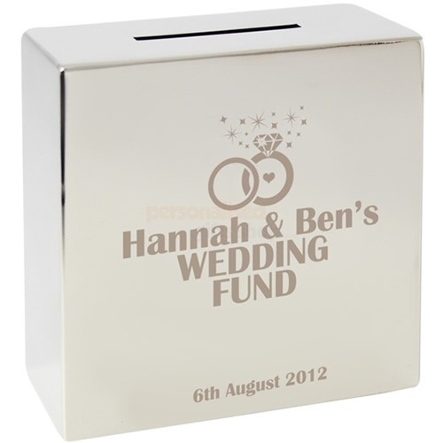 Personalised Rings Silver Money Box  from Personalised Gifts Shop - ONLY £19.95