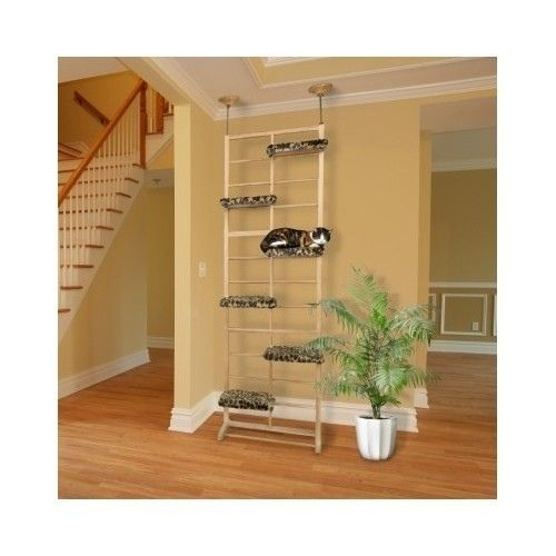 Cat Climber Tree Scratching Post Floor To Ceiling Tower