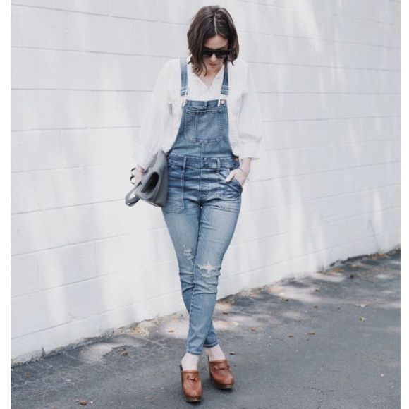 "✨12 HOUR SALE ✨MADEWELL Park Overalls in Dixon, L, MADEWELL Park Overall in Dixon Wash, size L, 29""inseam, slouchy fit, NWT Madewell Pants"