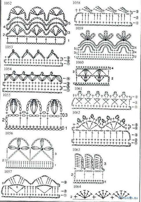 1000  images about bicos  barrados ou bordas de croch u00ea on