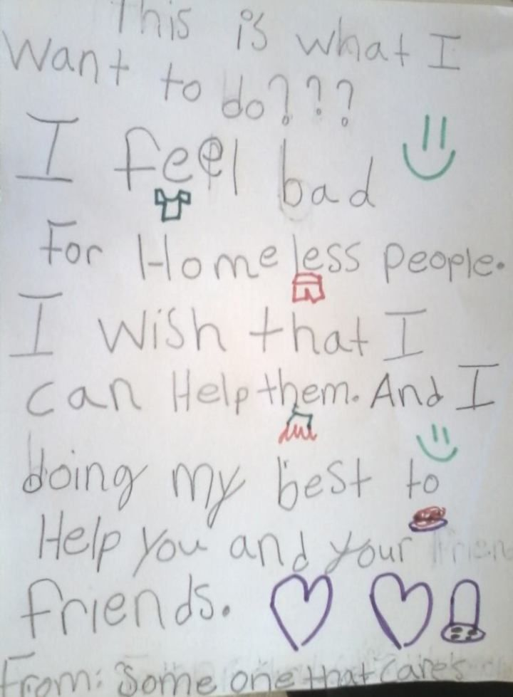 RaleighRescueMission A Childs Letter to a Homeless Person and Their Response