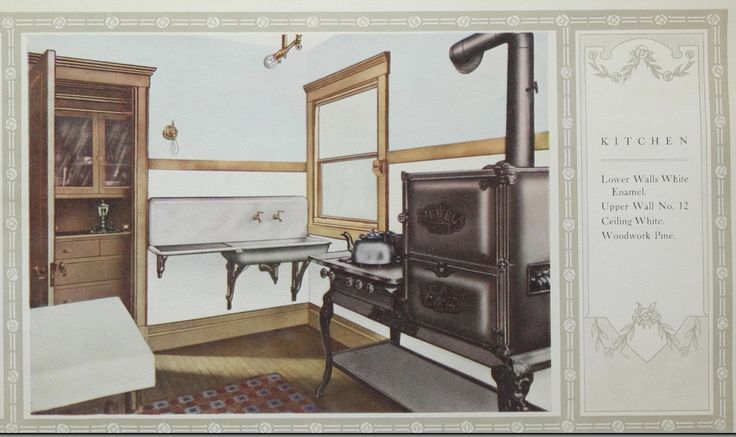Kitchen Color Suggestion From 1906 Alabastine Color Guide