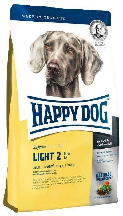 Корм для собак Хэппи Дог Лайт 2 Эдалт контроль веса, меш. 12,5кг