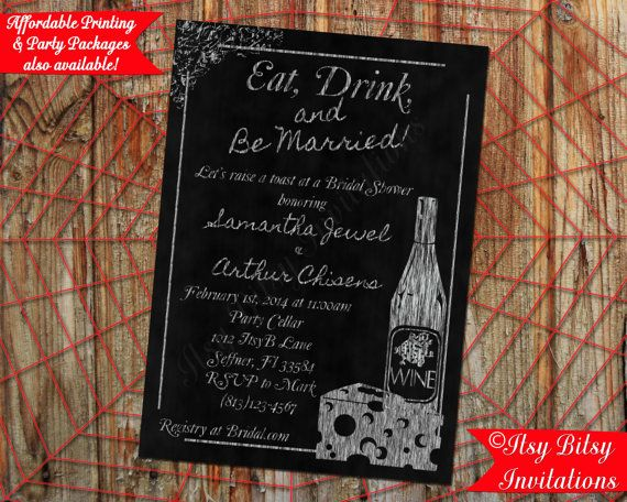 15 best wine themed wedding invitations images on for Italian bridal shower invitations