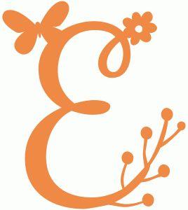 Silhouette Design Store - View Design #58953: spring letter e